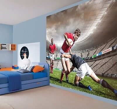 Cool rugby tackle sports stadium  wallpaper wall mural (45914391)