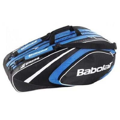 Babolat Club Line Tennis Racquet Holder Back Pack Bag 12 Blue Free Shipping New
