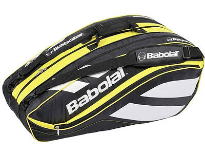 Babolat Club Line Tennis Racquet Holder Back Pack Bag 12 Yellow Free Shipping