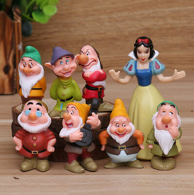 Disney Snow White and the Seven Dwarfs 8pc set PVC figure toy doll #B