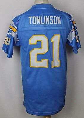 Tomlinson #21 San Diego Chargers American Football Jersey Youths Xl Stitched