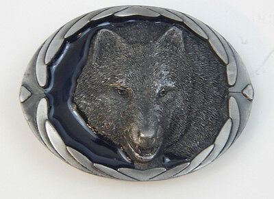 Beautiful 3-D Wolf Head Belt Buckle by Buckles of America Free Shipping
