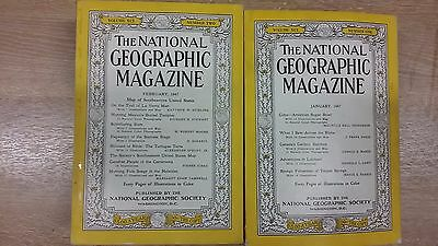 Job lot National Geographic 1948 - 1958 Year pack