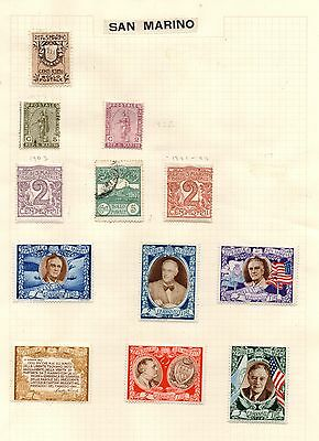 Stamps from San Marino