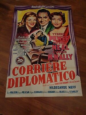 manifesto,1952,Corriere diplomatico Diplomatic Courier Hathaway,Tyrone Power