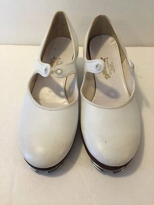 Danshúz White Tap Dance Shoes White Size 7 M Made In The USA