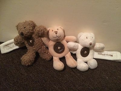 Cute Baby's Mamas And Papas Bear Rattle Ideal For Car Seat Or Bouncer Chair
