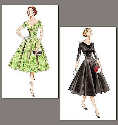 50s fifties style dress SEWING PATTERN, Vintage Vogue V2903 size 6-22 retro 1950