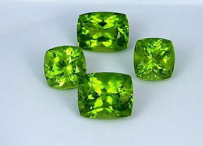 IF 21.75 Ct Supreme Quality Very Unique Set of Deep Green NATURAL PERIDOT