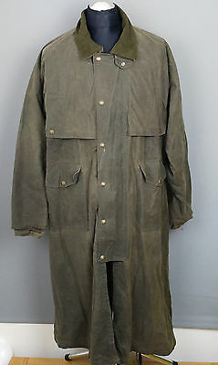 FILSON vintage wax cotton riding coat jacket long green L gamekeepers hunting
