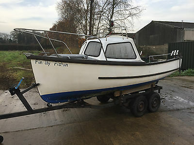 15Ft (Ip15)  Displacement Hull Fishing River Sea Cuddy Boat With Trailer