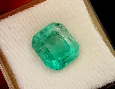 6.82CT NATURAL COLOMBIAN EMERALD LOOSE STONE 9X10mm