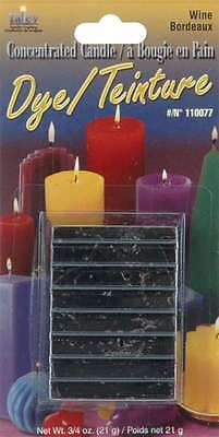 Concentrated Candle Dye 3/4 Ounce Blocks-Wine 052124102849