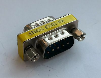 DB9 DSUB 9-pin Adapter RS-232 Gender Coupler Male to Male D15 : £2.25 FREE p&p