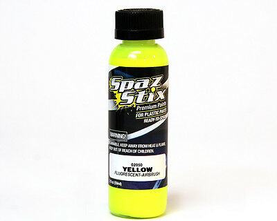 SPAZ STIX YELLOW FLUORESCENT AIRBRUSH PAINT 2OZ SZX02050 Fast Shipping w Track#