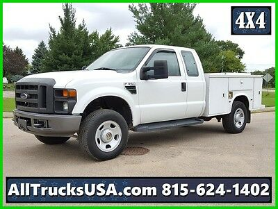 2008 FORD F350 4X4 EXTENDED CAB 5.4 GAS SERVICE UTILITY TRUCK 158k