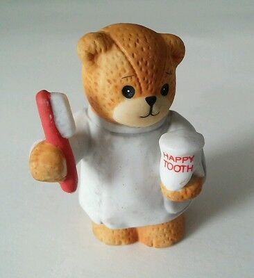Vintage 1992  Lucy and me teddy bear bear Happy Tooth dentist figurine ceramic
