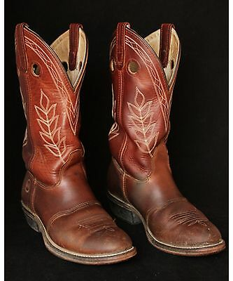 Vintage Double H Cowboy Boots Woman's 8 M Very Cool