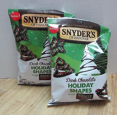 Snyder's of Hanover Hershey's Dark Chocolate Holiday Shapes Pretzels 2 bags