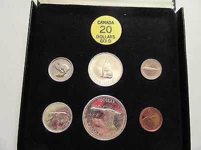 1967 Royal Canadian Mint Proof-Like 6 coin set, 80% silver, mint box from 7 coin