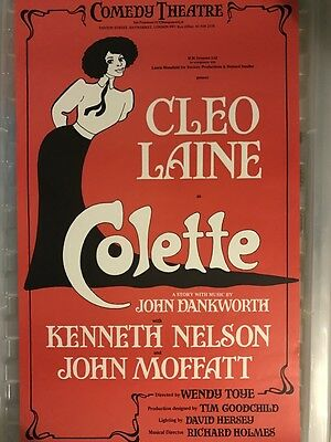 Old Theatre Poster Colette, Cleo Laine 1980