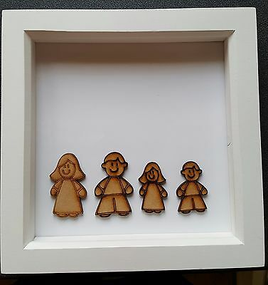 MDF Family Members People Children parents wooden blank shape for craft projects