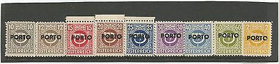 Austria  1946  Postage Due Stamps