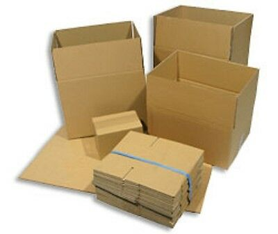 Strong Removal Mailing Packing Corrugated Cardboard Boxes Cartons Double/Single