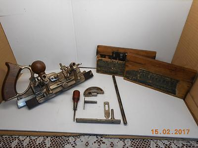 STANLEY SW No. 45 COMBINATION PLANE WITH  CUTTERS