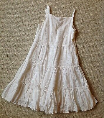 GAP KIDS Girls 7 8 White Eyelet Lace Beach Wedding Easter Dress WORN ONCE