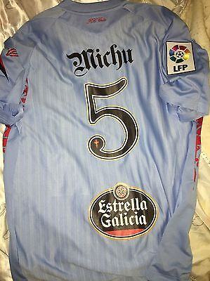 Camiseta Michu Celta Vigo 2009/10 No Match Worn Shirt Maglia Trikot