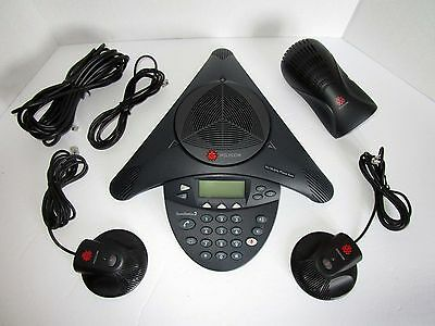 Polycom SoundStation2 EX Conference Phone with Extended Mics 2201-16200-601 (P5)
