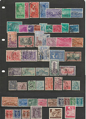 INDIA,early1950s collection with values to R.5, mainly fine used