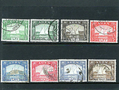 ADEN 1937 Dhows, various to 1R Brown , Fine Used
