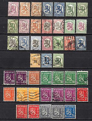 Finland nice 1917-30 collection from old album,stamps as per scan(2389)