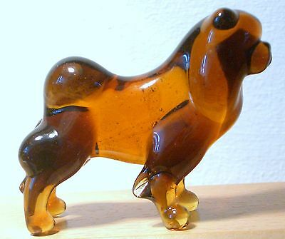 """Hand Blown """"murano"""" Glass Collectable Chow Chow Dog  Figurine"""