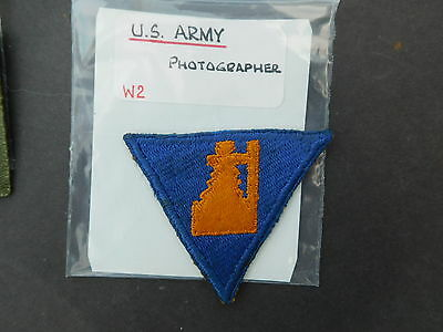 US Army Photographer Shoulder Title Patch