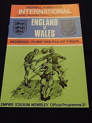 England vWales football programme from 1969