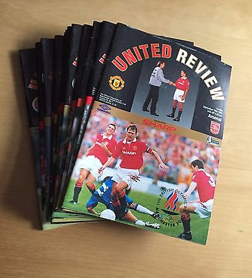 MANCHESTER UNITED - 1993/1994 Job Lot 18 home programmes : listed no duplicates