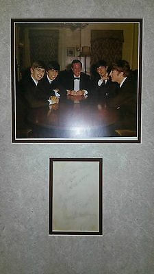 THE BEATLES 1963 with Brian Epstein Autograph Set w/LOA Caiazzo VG Plus