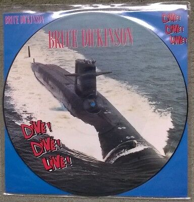 "Bruce Dickinson - Dive! Dive! Dive! 4-Track 12"" Picture Disc Single Iron Maiden"