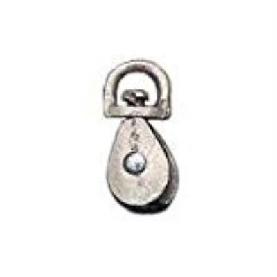 Baron 0178ZD-1 Double Swivel Rope Pulley Zinc - 1 In.