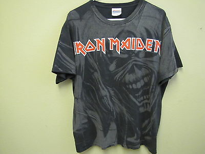 Gray and Black, Iron Maiden T-Shirt. Size L.