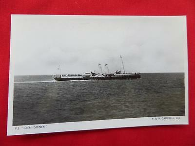 PS GLEN DOWER Paddle Steamer Old Postcard - Real Photo