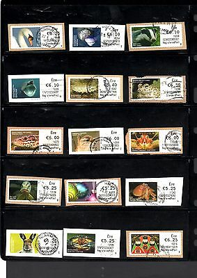 Eire Ireland Post & Go Soar stamps high values only x 15, used