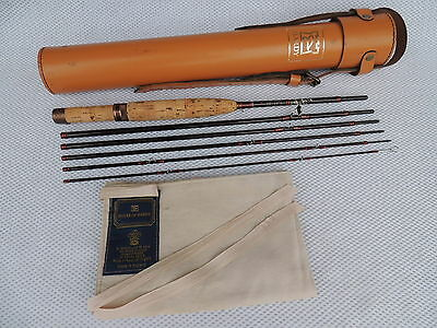 Superb 7ft Hardy Graphite De-Luxe #5 Smuggler Fly Rod + Block Leather Tube.