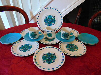 J & G Meakin Impact Part Tea & Coffee Set (16 Pieces) In Good Condition