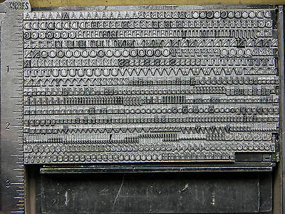 Letterpress Metal Type, Goudy Hand Tooled, 12 Point