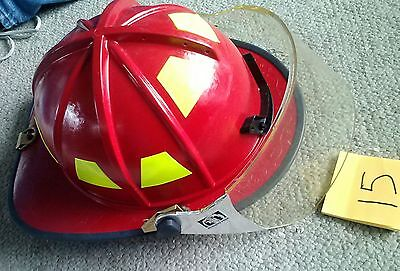 WP AFB Morning Pride BEN FRANKLIN BB2  Fire Fighter firemans Helmet RED 14