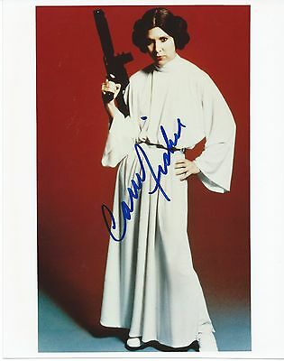 CARRIE FISHER Hand Signed 8x10 Autographed Photo With COA - STAR WARS